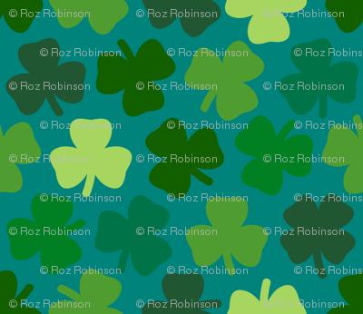 Lucky four leaf clover - teal
