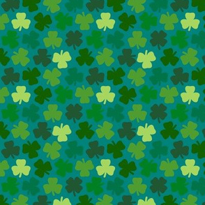 Lucky four leaf clover - teal