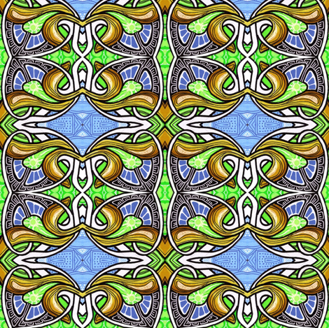 Stained Glass Spadeflower fabric by edsel2084 on Spoonflower - custom fabric