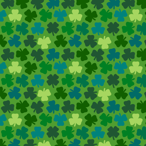 Lucky four leaf clover - leaf green fabric by coggon_(roz_robinson) on Spoonflower - custom fabric