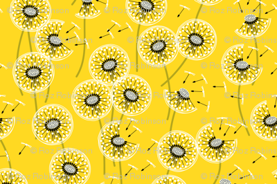 Fanciful flight - make a dandelion wish! - buttercup yellow