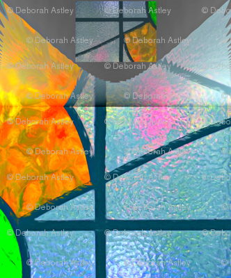 Peach stained glass