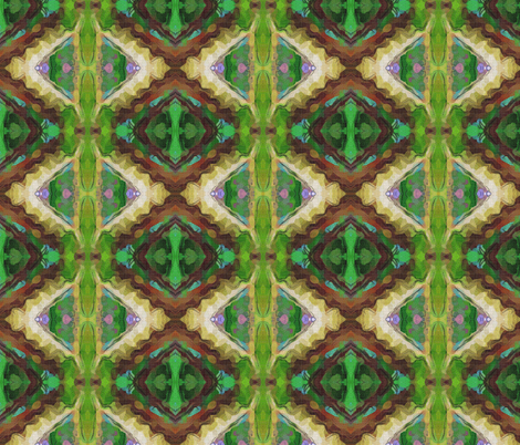Morning Glory Green fabric by anniedeb on Spoonflower - custom fabric