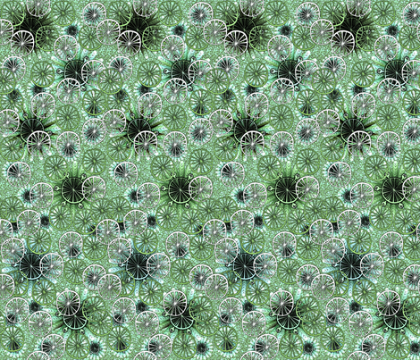 colorfantasy greens fabric by glimmericks on Spoonflower - custom fabric