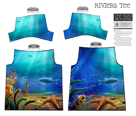 Under The Sea  One-Yard-Wonders contest fabric by tulsa_gal on Spoonflower - custom fabric