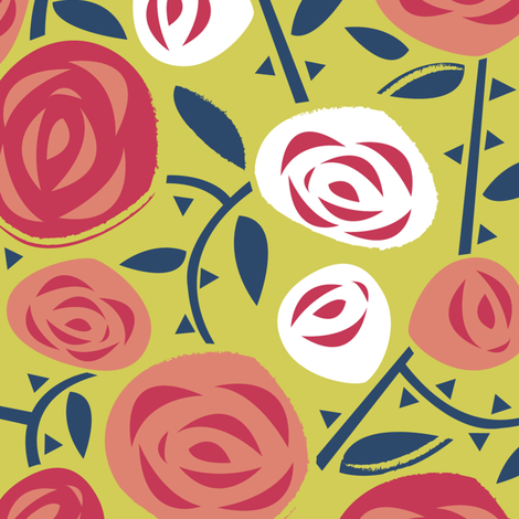 Rose Garden fabric by acbeilke on Spoonflower - custom fabric