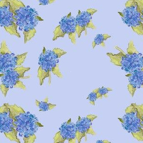 Blue Hydrangea Pattern