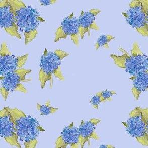 Blue Hydrangea Pattern