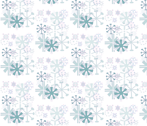 Snowflake_pink fabric by pink_koala_design on Spoonflower - custom fabric