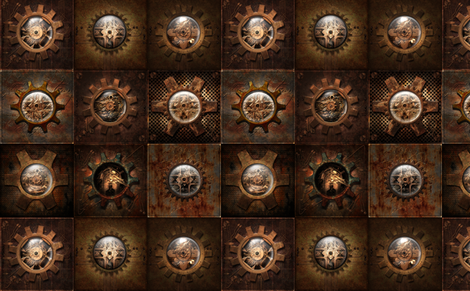 Steampunk Geared fabric by kald-rað on Spoonflower - custom fabric