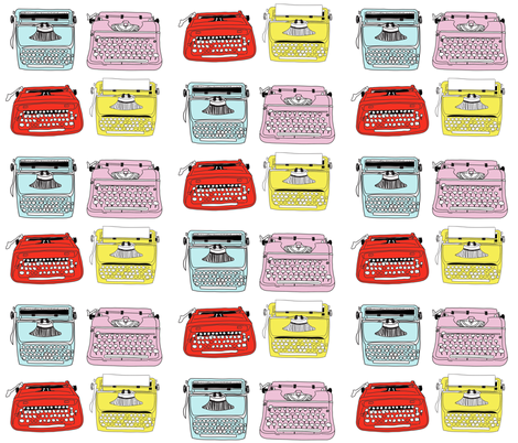 Typewriters Mixed fabric by curious_nook on Spoonflower - custom fabric