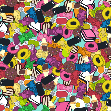 SUGAR SUGAR fabric by scrummy on Spoonflower - custom fabric