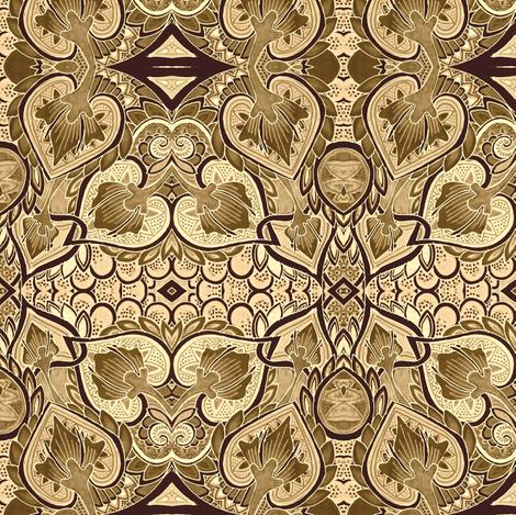 Chocolate Cowgirl Playdate fabric by edsel2084 on Spoonflower - custom fabric
