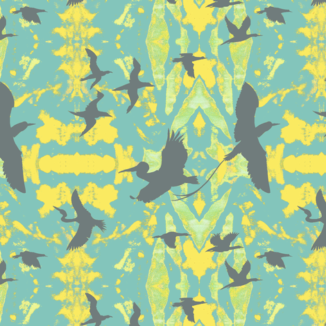 Birds_in_Flights_of_Fancy fabric by art_on_fabric on Spoonflower - custom fabric