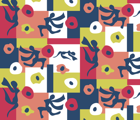Matisse and Anemones fabric by bbsforbabies on Spoonflower - custom fabric