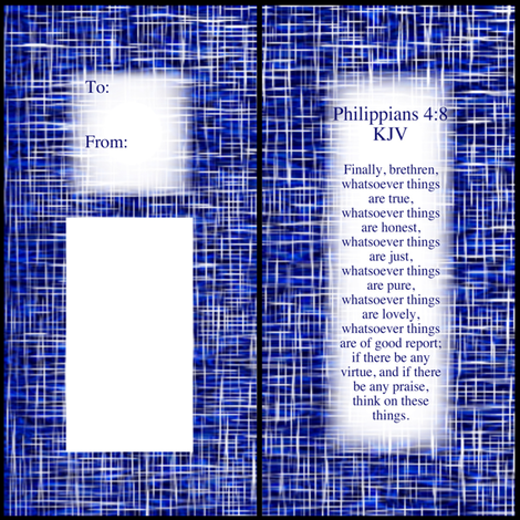 Philippians 4:8 Gift Tag fabric by pd_frasure on Spoonflower - custom fabric