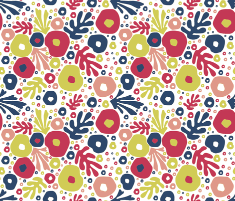 paperflowers fabric by susiprint on Spoonflower - custom fabric