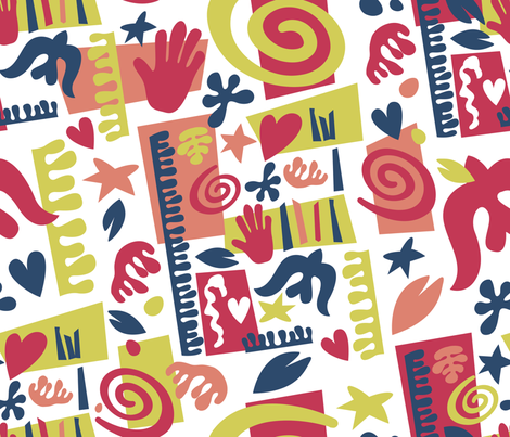 Contest-Matisse fabric by cassiopee on Spoonflower - custom fabric