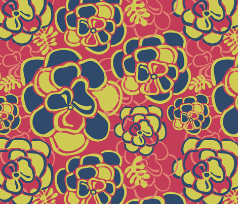 Henri's Flowers fabric by sketchcreative on Spoonflower - custom fabric