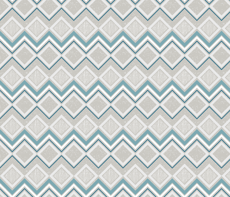 Winter Beach Collection - Geometric fabric by diane555 on Spoonflower - custom fabric