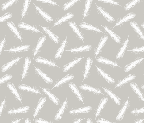 Feathers from my Winter Beach Collection fabric by diane555 on Spoonflower - custom fabric