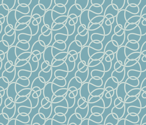 Rope Design from my Winter Beach Collection fabric by diane555 on Spoonflower - custom fabric