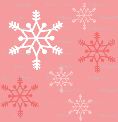 Snowflakes - coral