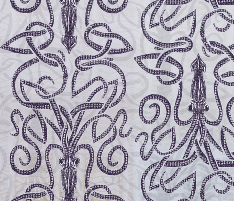 Kraken--Swirling Seas fabric by wren_leyland on Spoonflower - custom fabric