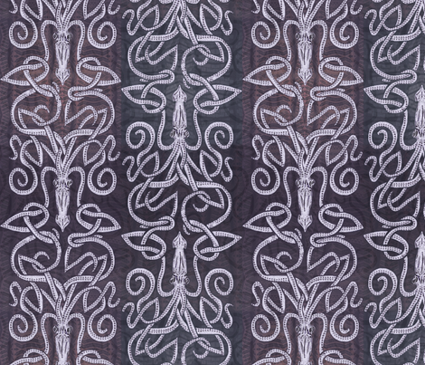 Deep Purple Squid - Inked fabric by wren_leyland on Spoonflower - custom fabric