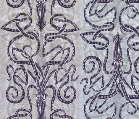 Batik kraken  fabric by wren_leyland on Spoonflower - custom fabric