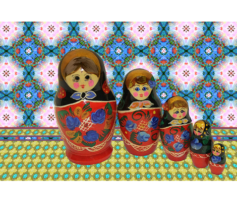 Russian dollies fabric by dana_zurzolo on Spoonflower - custom fabric