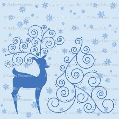 Swirly Reindeer