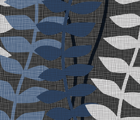 matisse inspired - black and blue fabric by ravynka on Spoonflower - custom fabric