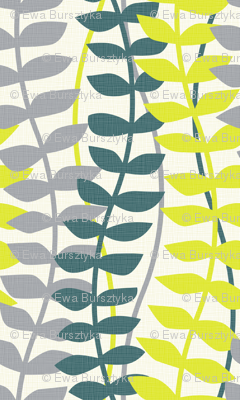 matisse inspired - lime, teal and gray colorway