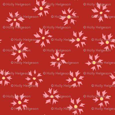 Flower Ditsy - red