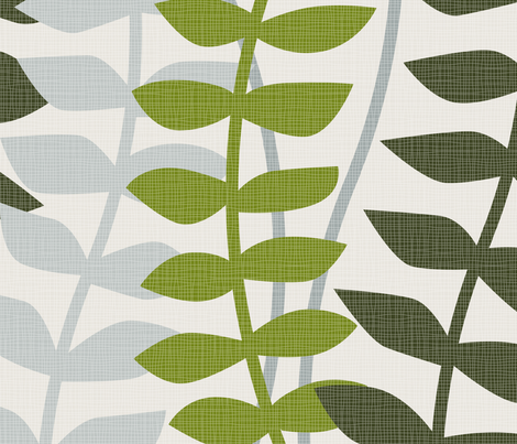 matisse inspired - greens colorway fabric by ravynka on Spoonflower - custom fabric