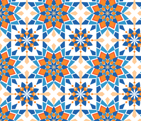 Moroccan skies fabric alexiazotos spoonflower for Moroccan style wallpaper