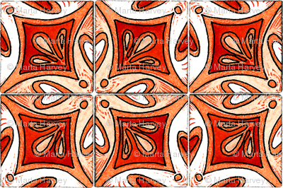 Tile Heart Orange