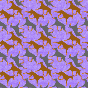 Trotting Dobies - purple