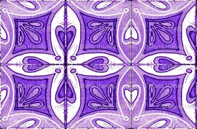 Tile Heart Purple