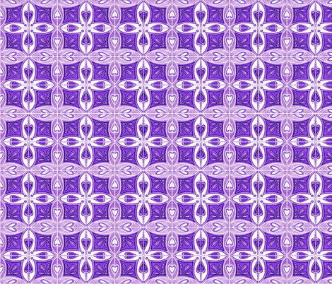 Tile Heart Purple fabric by martaharvey on Spoonflower - custom fabric