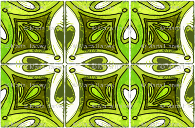 Tile Heart Green