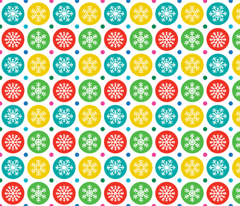 Snowflake Holiday fabric by andibird on Spoonflower - custom fabric
