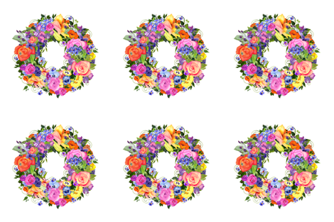 Watercolor Flower Wreath fabric by golders on Spoonflower - custom fabric