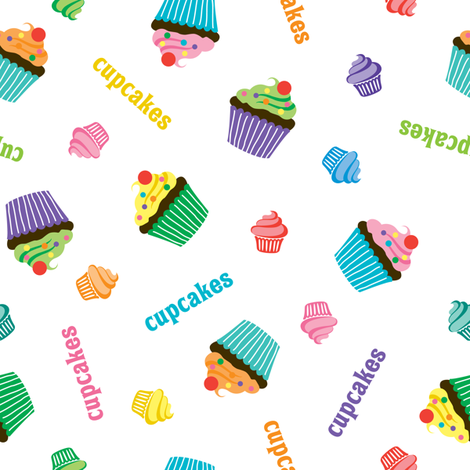 Cupcake Toss fabric by andibird on Spoonflower - custom fabric