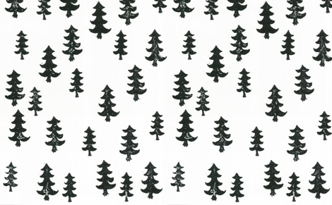 trees fabric by laurenmholton on Spoonflower - custom fabric