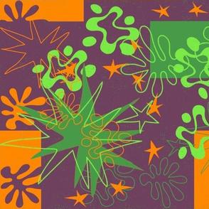 Matisse Inspired Orange, green