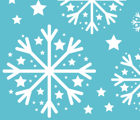Winter Snowflake fabric by studiometzger on Spoonflower - custom fabric
