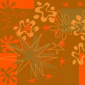 Matisse Inspired Brown, Green, orange