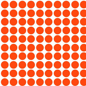 Orange n White Polkas
